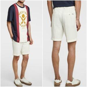 Zara Man textured weave shorts